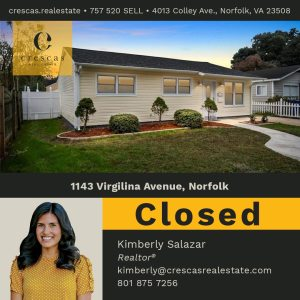 1143 Virgilina Avenue Norfolk - Closed