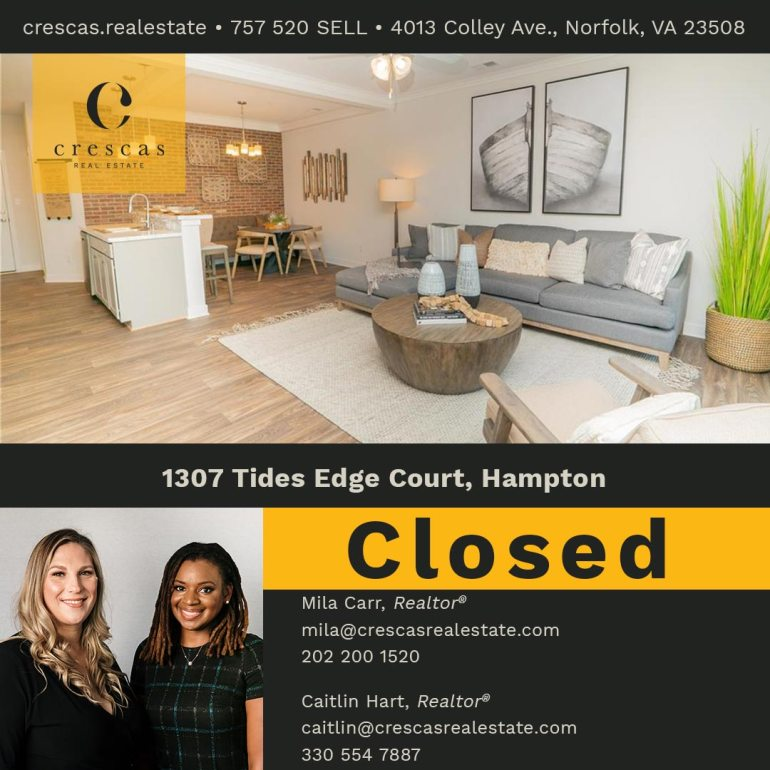 1307 Tides Edge Court Hampton - Closed