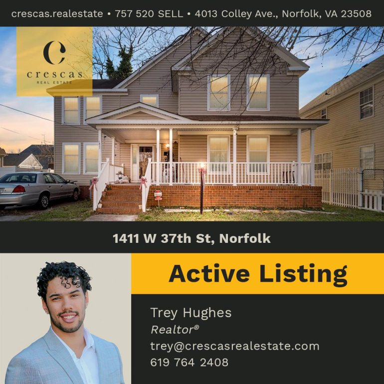 1411 W 37th St Norfolk - Active Listing