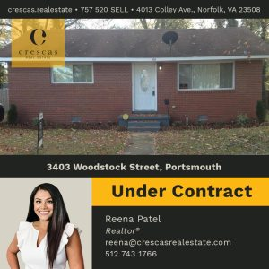 3403 Woodstock Street Portsmouth - Under Contract