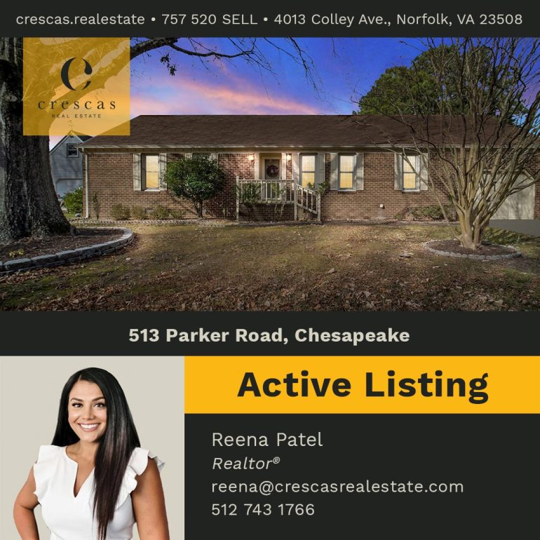 513 Parker Road Chesapeake - Active Listing
