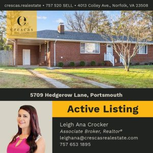 5709 Hedgerow Lane Portsmouth - Active Listing