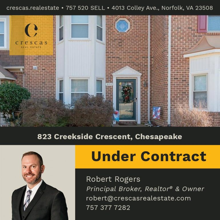 823 Creekside Crescent Chesapeake - Under Contract