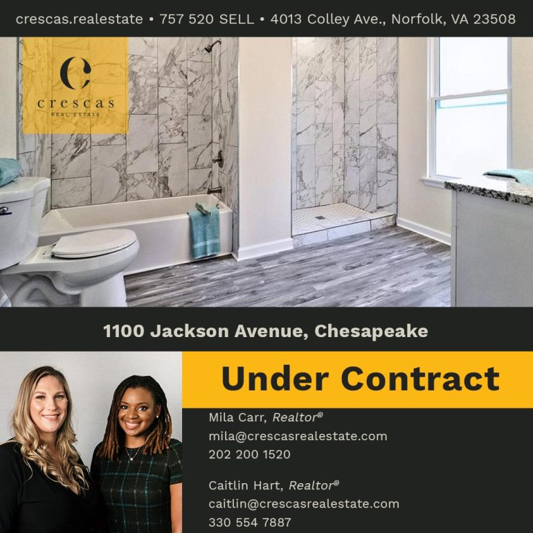 1100 Jackson Avenue Chesapeake - Under Contract