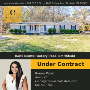 15316 Scotts Factory Road Smithfield - Under Contract