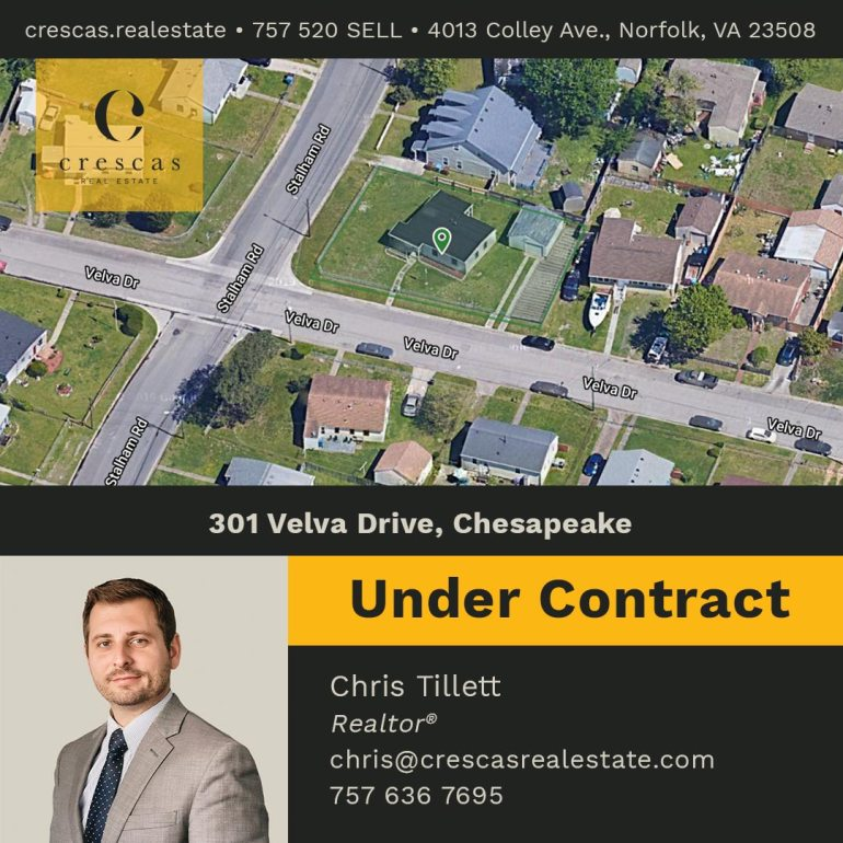 301 Velva Drive Chesapeake - Under Contract