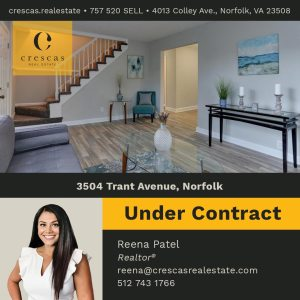 3504 Trant Avenue Norfolk - Under Contract