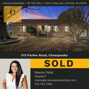 513 Parker Road Chesapeake - Sold