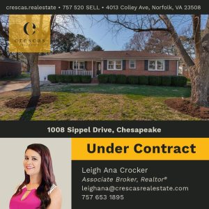 1008 Sippel Drive Chesapeake - Under Contract