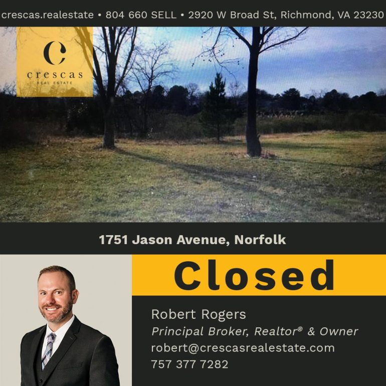 1751 Jason Avenue Norfolk - Closed