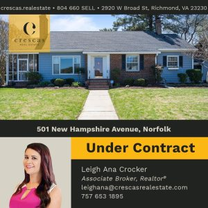 501 New Hampshire Avenue Norfolk - Under Contract