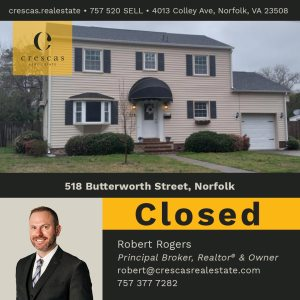 518 Butterworth Street Norfolk - Closed