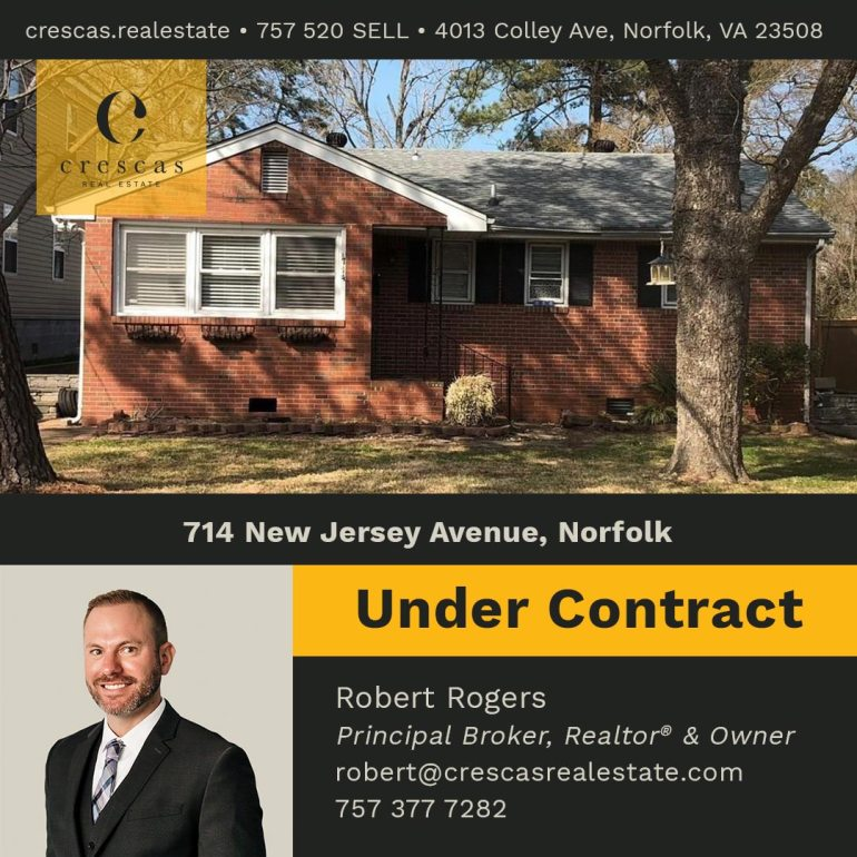 714 New Jersey Avenue Norfolk - Under Contract
