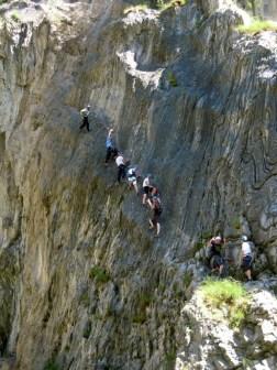 Via ferrata Durance, plusieurs parcours sportifs