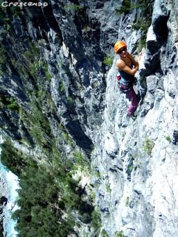 Stage escalade grandes voies Queyras calcaire grande voie