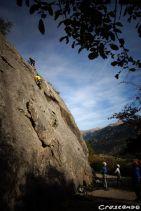 CAF d'Embrun - cours d'escalade pour les jeunes grimpeurs