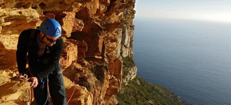 Escalade au Cap Canaille : secteur Ouvreur de Bouse