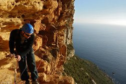 Grande voie Cap Canaille, Escalade Calanques, stage grande voie, Stage escalade Cassis