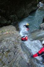 canyoning hautes-alpes, canyon de Dormillouse, cascade Chichin