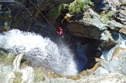canyoning 05, canyonig pelvoux, stage progression canyon