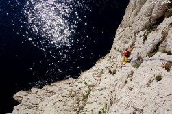 Sormiou escalade, grimper avec un guide, séjour escalade