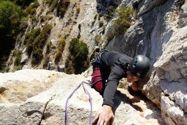 moniteur d'escalade, séjour escalade hiver, grimper en grande voie