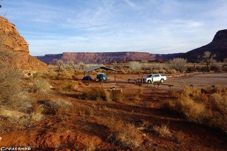 Campground Indian creek, séjour états-unis, escalade USA