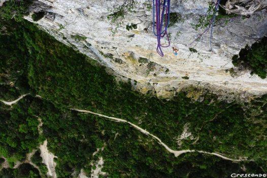 escalade grande voie, grimper en grande voie, escalade Hérault