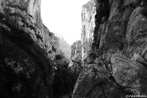 Couloir Samson, grimper Verdon
