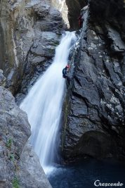 sortie canyoning, moniteur de canyoning, moniteur canyon Guillestre