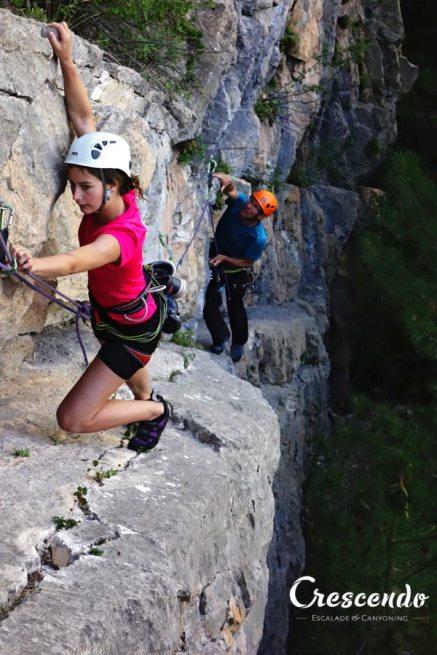 family rock climbing, multi-pitch climbing course