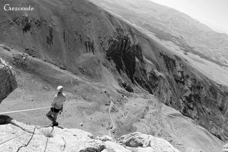 grande voie moniteur, multipitch rockclimbing