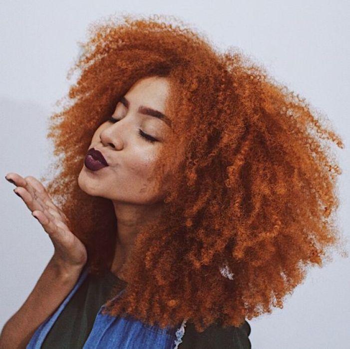 cabelo crespo  ruivo