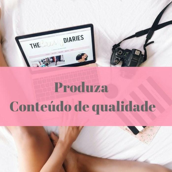 O sucesso do seu blog está no conteúdo de qualidade