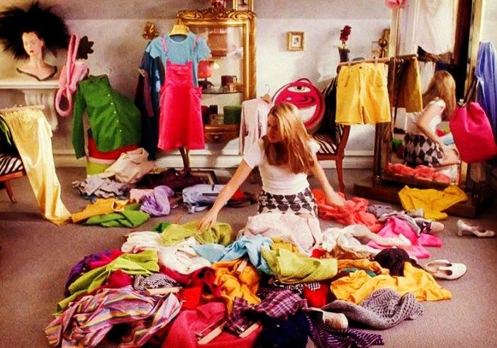 praticando desapego de roupas