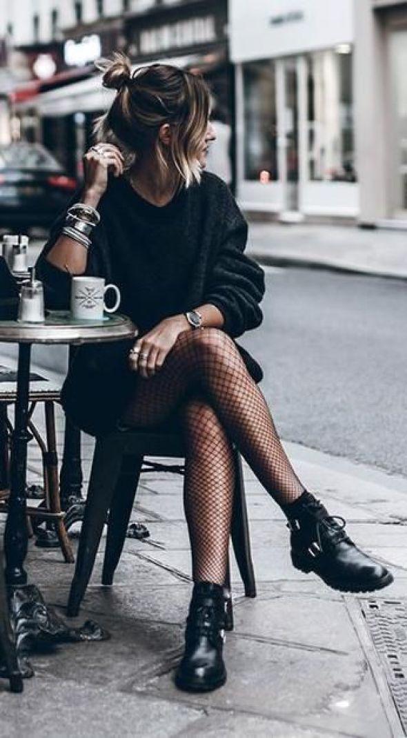 look tumblr de inverno com meia calça