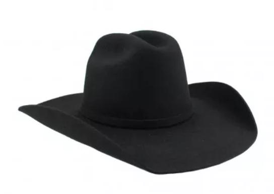 chapeu-de-couro-preto