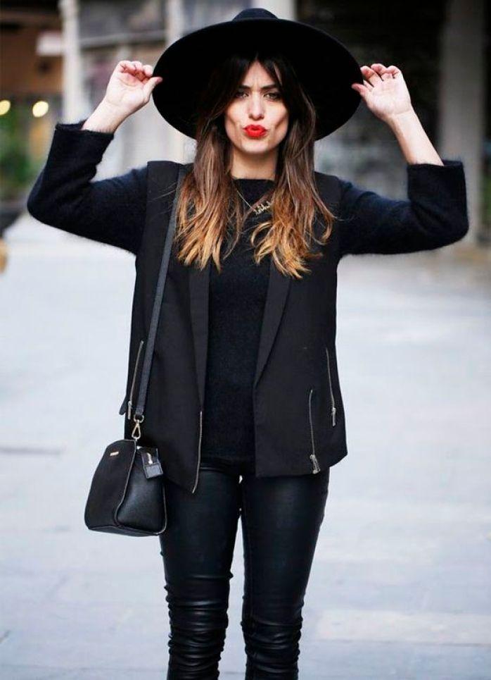 como usar chapeu de couro feminino