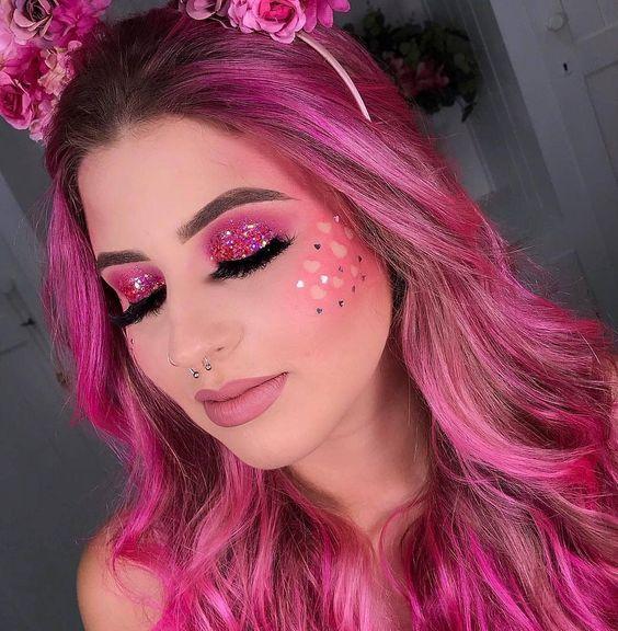make-rosa-carnaval-glitter