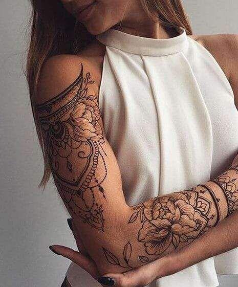ideias de tatuagem feminina no braço