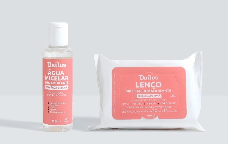 lenço e água micelar demaquilante