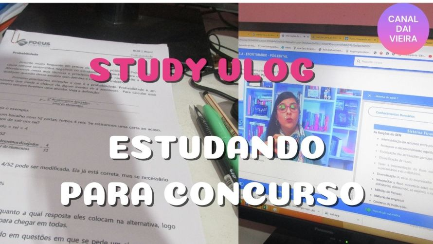 study vlog estudando para concurso público