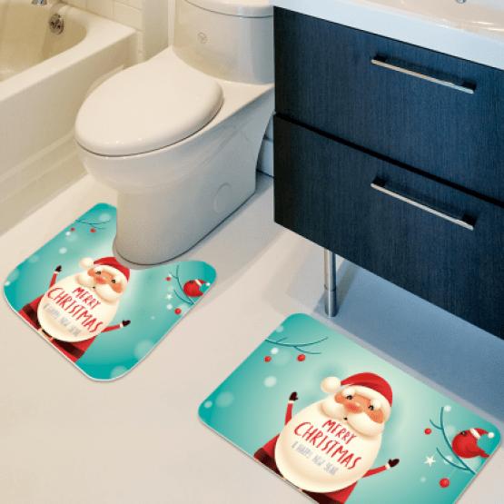 tapete de banheiro de natal