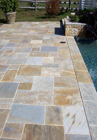 Crescent dc flagstone patios in va md and dc Flagstone pavers around pool