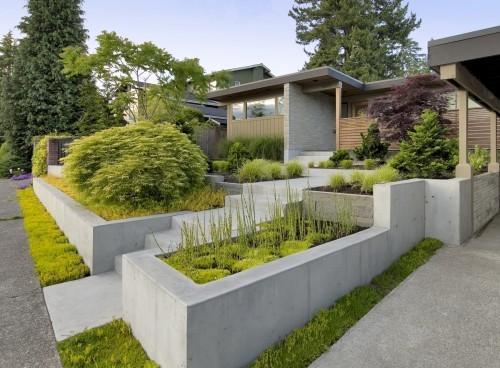 Ultra Modern Garden Retaining Wall
