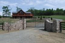 Stone Driveway Entrance Gates