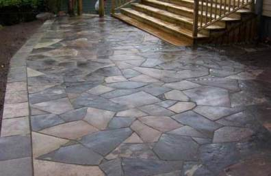 Irregular Shaped Flagstone Patio