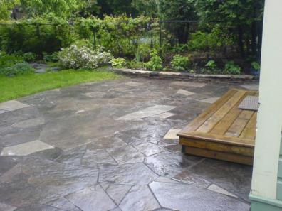 Nice, Basic, But Beautiful Flagstone Patio Deck