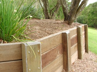 Nice Wooden Retaining Wall
