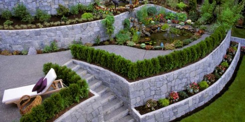 Amazing Multi-Tiered Garden Retaining Wall